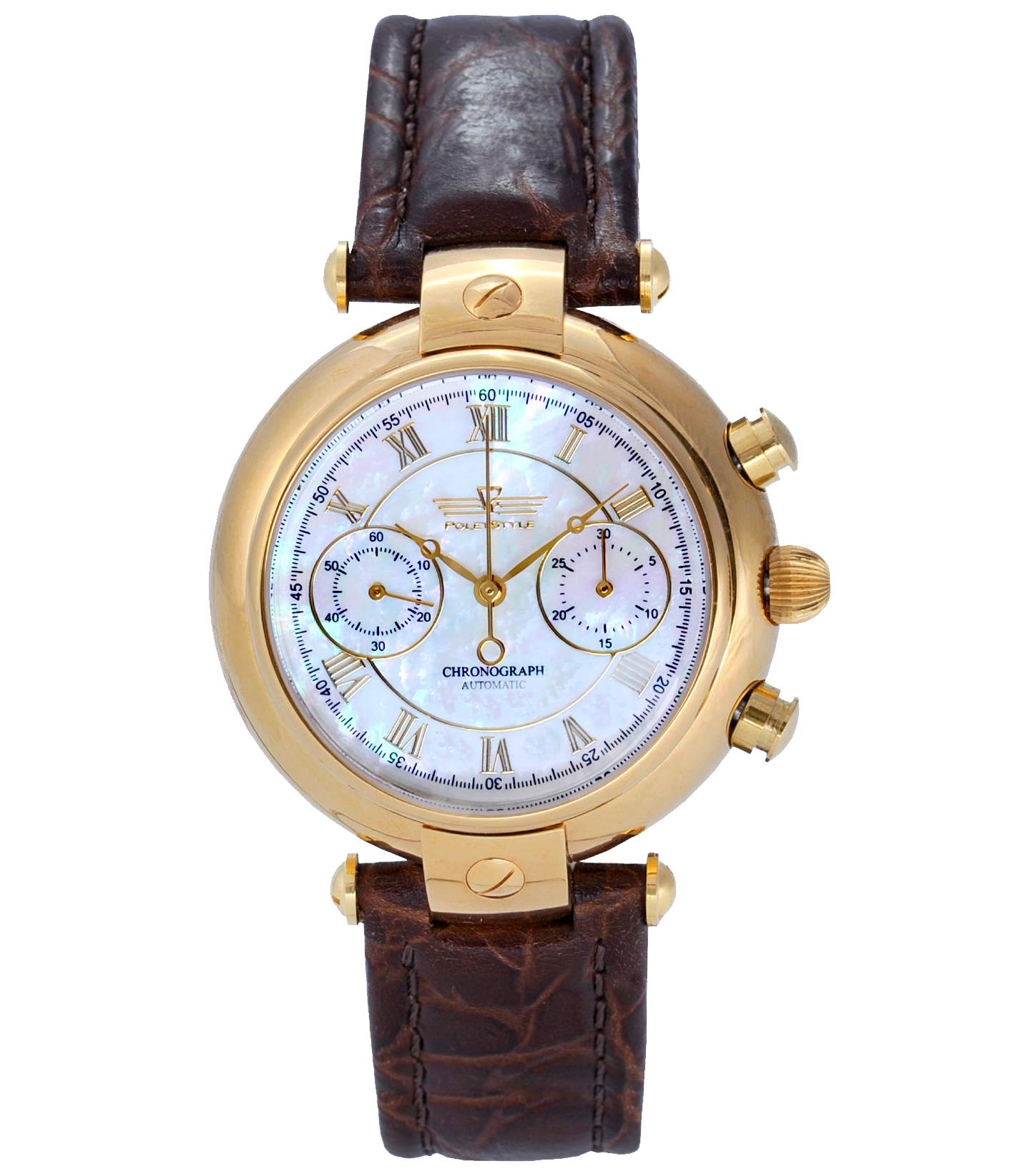 Часы для делового человека выполнены в классическом форм-факторе и имеют сдержанный дизайн.